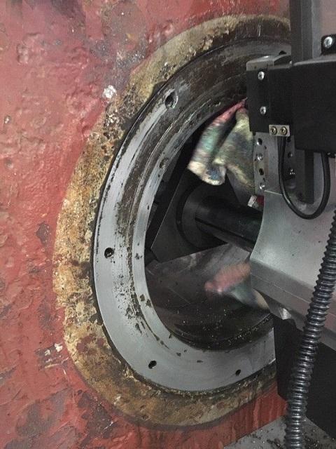 onsite rudder machining